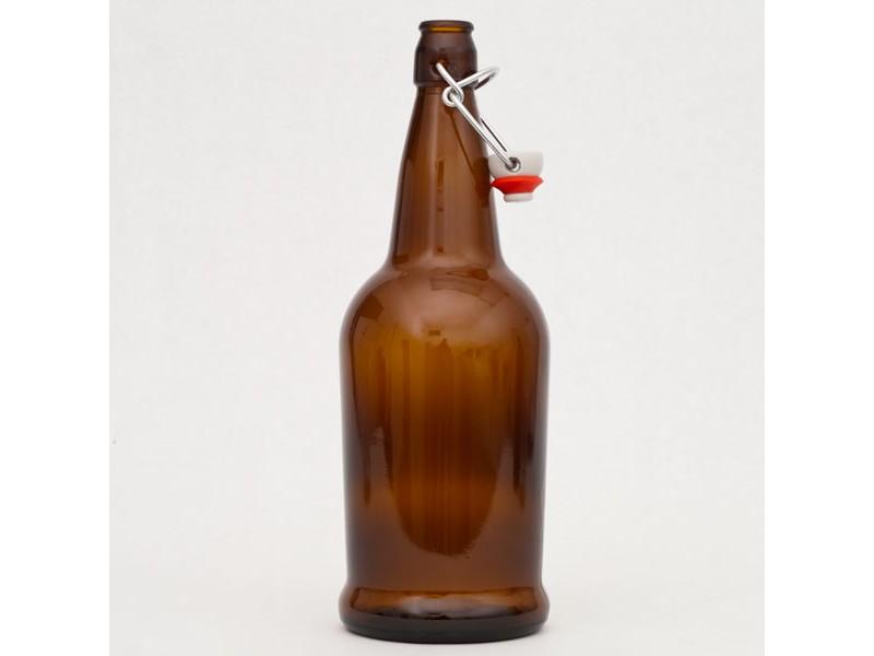1 Liter Brown E Z Cap Bottles 12 Per Case 34 Oz