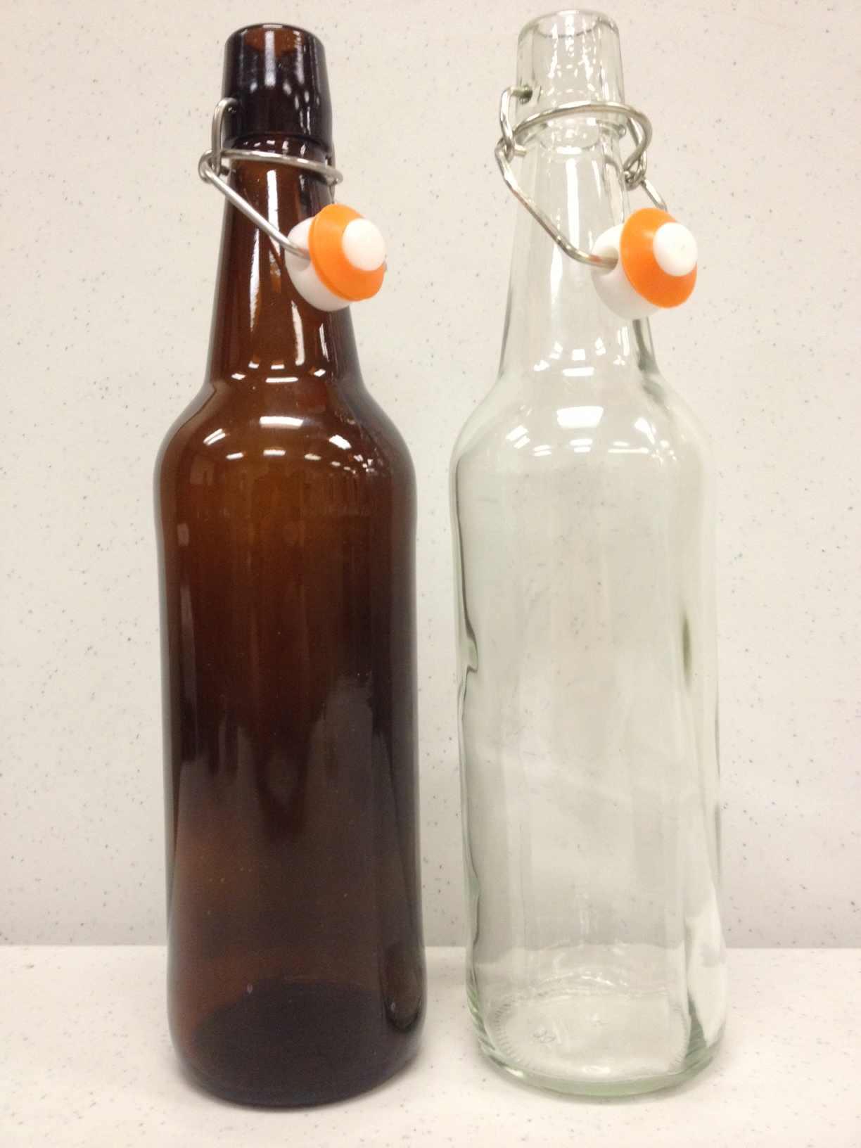 12 Liter Clear Flip Top Bottles 16 Oz 500ml 12 Per Case