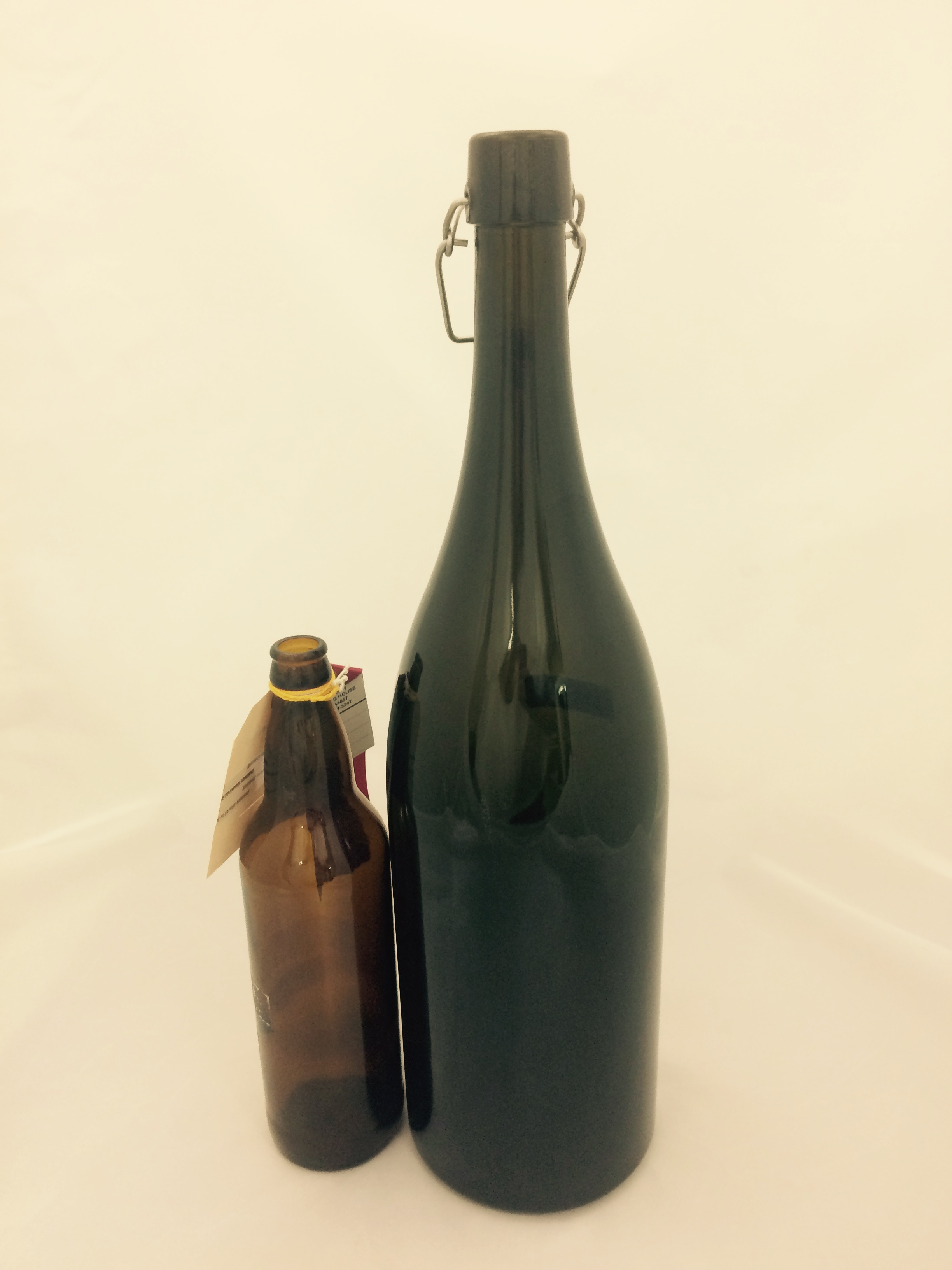 3 Liter Antique Green Flip Top Bottle Bader Beer Amp Wine