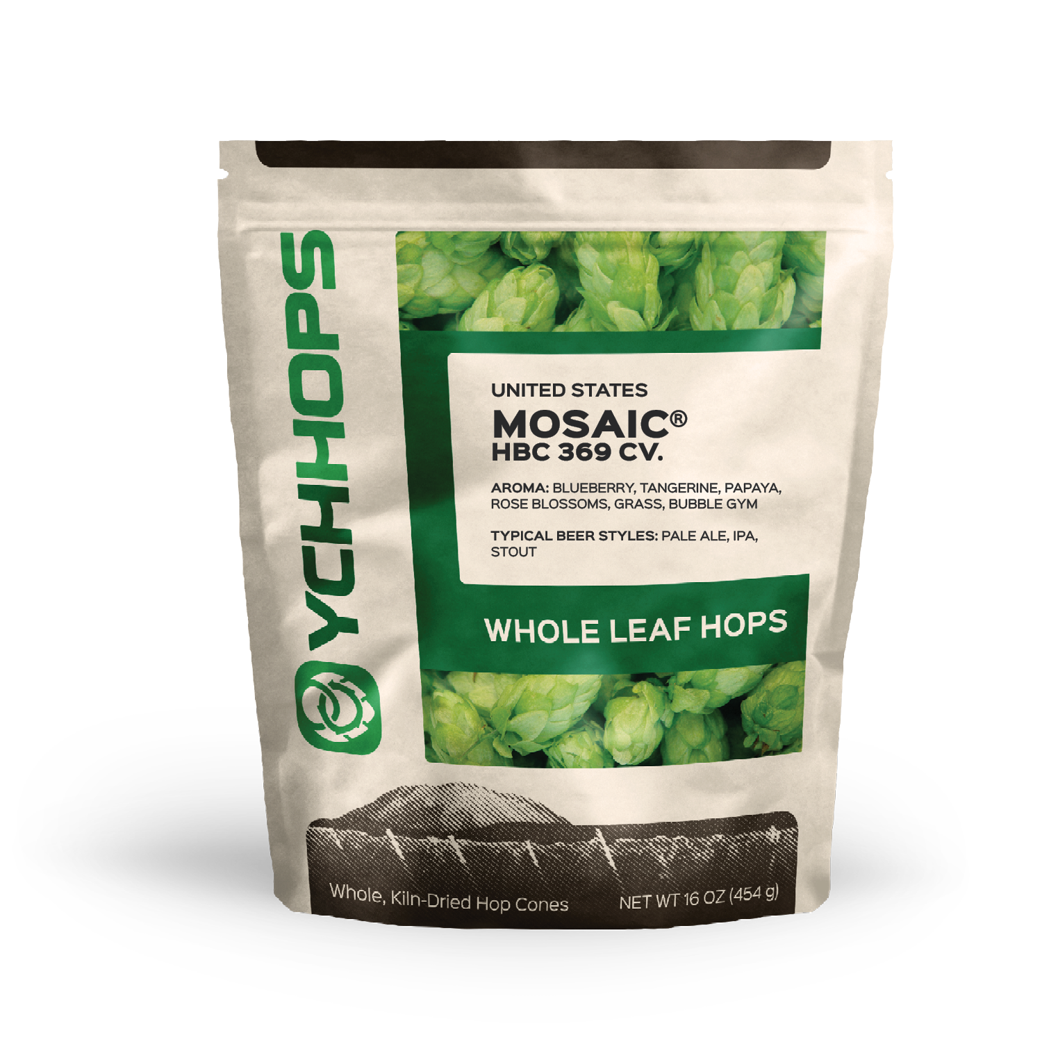 1 Lb Mosaic Leaf Hops Alpha Acid 10   14.%