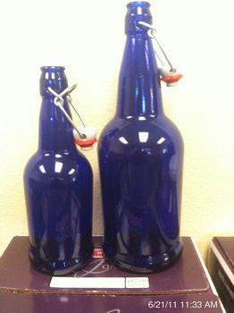 1 2 Liter Cobalt Blue Flip Top Bottles 16 Oz 12 Per Case