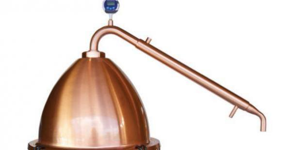 New !  Copper Alembic Pot Condenser