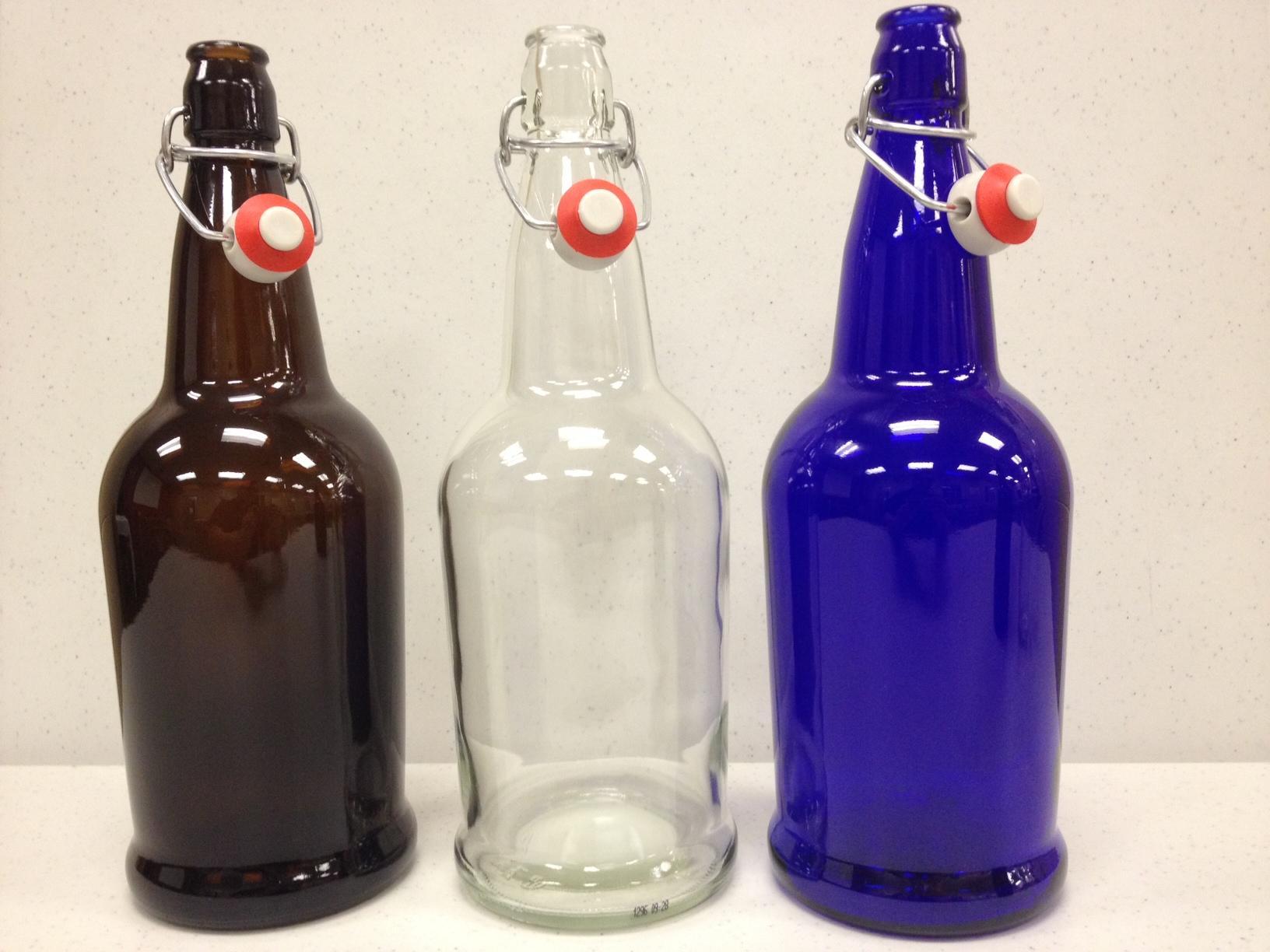 1 Liter Clear E Z Cap Flip Top Bottles 12 Per Case 34