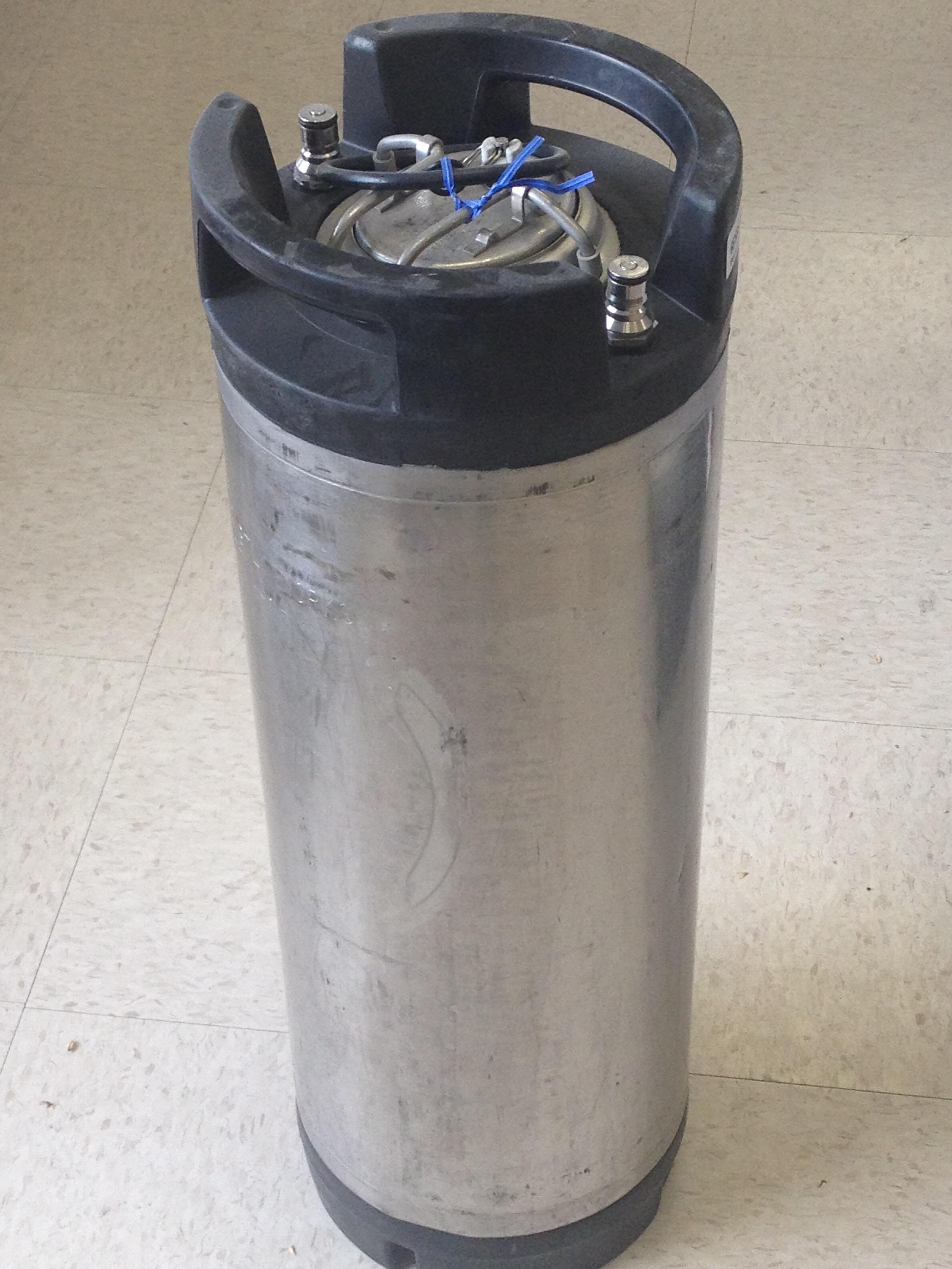 5 Gallon Used Ball Lock Soda Keg With New O Ring Bader